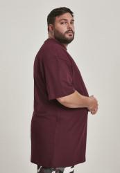 Pánske tričko s krátkym rukávom URBAN CLASSICS Tall Tee redwine #3