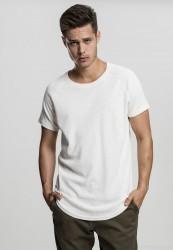Pánske tričko s krátkym rukávom URBAN CLASSICS Thermal Slub Raglan Tee biela
