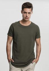 Pánske tričko s krátkym rukávom URBAN CLASSICS Thermal Slub Raglan Tee olivová