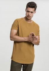 Pánske tričko s krátkym rukávom URBAN CLASSICS Thermal Slub Raglan Tee toffee