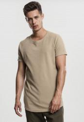 Pánske tričko s krátkym rukávom URBAN CLASSICS Thermal Slub Raglan Tee warm sand