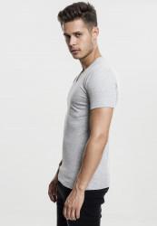 Pánske tričko s krátkym rukávom URBAN CLASSICS V-Neck Pocket Tee grey #1