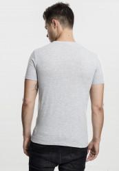Pánske tričko s krátkym rukávom URBAN CLASSICS V-Neck Pocket Tee grey #2