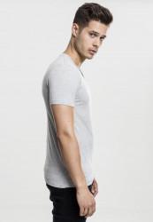 Pánske tričko s krátkym rukávom URBAN CLASSICS V-Neck Pocket Tee grey #3