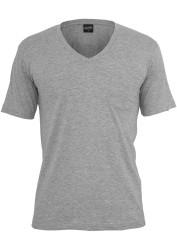 Pánske tričko s krátkym rukávom URBAN CLASSICS V-Neck Pocket Tee grey #4
