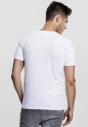 Pánske tričko s krátkym rukávom URBAN CLASSICS V-Neck Pocket Tee white #2