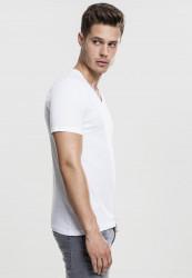 Pánske tričko s krátkym rukávom URBAN CLASSICS V-Neck Pocket Tee white #3