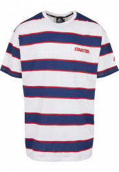 Pánske tričko STARTER Logo Striped Tee Farba: white/blue,