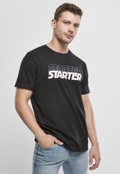 Pánske tričko Starter Multilogo Jersey Farba: black/city red,
