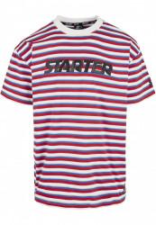 Pánske tričko Starter Stripe Jersey Farba: cityred/wht/sprtblue/silgry,