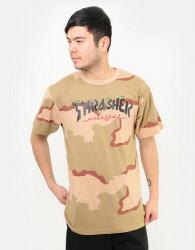 Pánske tričko THRASHER Calligraphy T-Shirt - Desert Camo