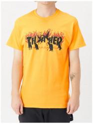 Pánske tričko Thrasher Crows S/S gold Farba: Zlatá,