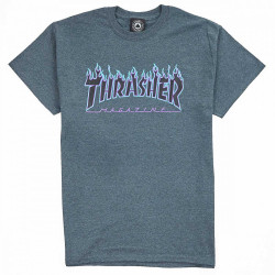 Pánske tričko Thrasher Flame logo dark heather #1