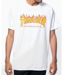 Pánske tričko Thrasher Flame logo white Farba: Biela,