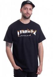 Pánske tričko Thrasher INTRO BURNER čierne