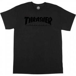 Pánske tričko THRASHER MAGAZINE LOGO BLACK ON BLACK