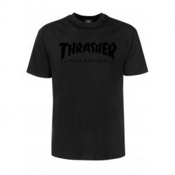 Pánske tričko THRASHER MAGAZINE LOGO BLACK ON BLACK #1