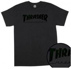 Pánske tričko THRASHER MAGAZINE LOGO BLACK ON BLACK #2