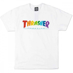 Pánske tričko Thrasher Rainbow Mag T-Shirt white