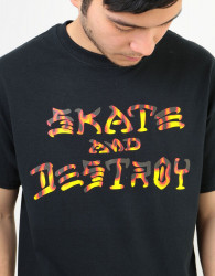 Pánske tričko THRASHER SAD BBQ S/S black