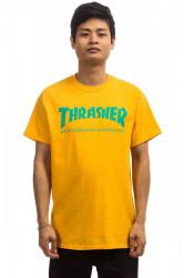 Pánske tričko Thrasher Skate Mag T-Shirt gold Farba: Žltá,