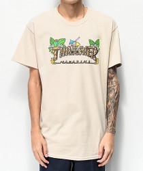 Pánske tričko Thrasher TIKI TEE SAFETY béžové