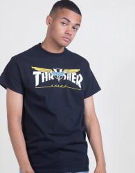 Pánske tričko Thrasher Venture Collab S/S black Farba: Čierna,