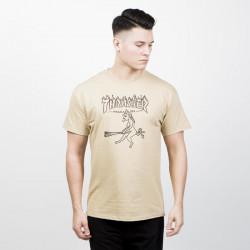 Pánske tričko THRASHER WITCH béžové