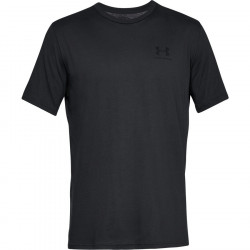 Pánske tričko Under Armour Sportstyle Left Chest Black