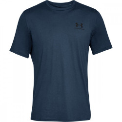 Pánske tričko Under Armour Sportstyle Left Chest Navy Academy