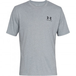 Pánske tričko Under Armour Sportstyle Left Chest Steel Light Heather