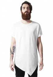 Pánske tričko URBAN CLASSICS ASYMETRIC LONG TEE biela