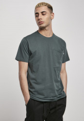 Pánske tričko URBAN CLASSICS Basic Pocket Tee bottlegreen