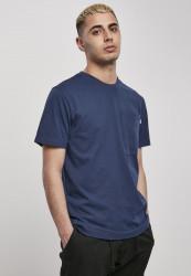 Pánske tričko URBAN CLASSICS Basic Pocket Tee darkblue