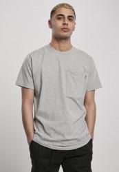 Pánske tričko URBAN CLASSICS Basic Pocket Tee grey