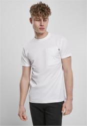 Pánske tričko URBAN CLASSICS Basic Pocket Tee white