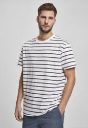 Pánske tričko URBAN CLASSICS Basic Stripe Oversized Tee white