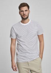 Pánske tričko URBAN CLASSICS Basic Stripe Tee white