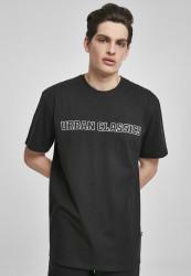 Pánske tričko URBAN CLASSICS Big Logo Oversized Tee black