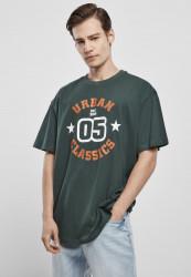 Pánske tričko URBAN CLASSICS College Print Tee bottlegreen