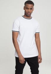 Pánske tričko URBAN CLASSICS College Tee bielo-čierne