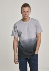 Pánske tričko URBAN CLASSICS Dip Dyed Tee grey/black