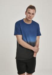 Pánske tričko URBAN CLASSICS Dip Dyed Tee midnightnavy/black