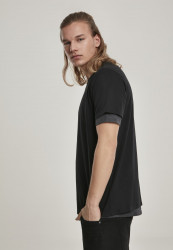 Pánske tričko URBAN CLASSICS Full Double Layered Tee black/charcoal