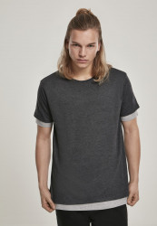 Pánske tričko URBAN CLASSICS Full Double Layered Tee charcoal/grey