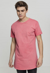 Pánske tričko URBAN CLASSICS Garment Longshape Tee coral