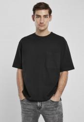 Pánske tričko URBAN CLASSICS Heavy Boxy Pocket Tee black
