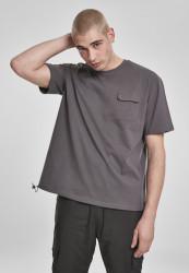 Pánske tričko URBAN CLASSICS Heavy Boxy Tactics Tee darkshadow