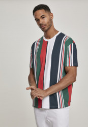 Pánske tričko URBAN CLASSICS Heavy Oversized Big AOP Stripe Tee wht/nvy