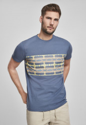 Pánske tričko URBAN CLASSICS Inka Pattern Tee vintageblue